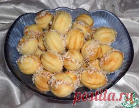 """Печенье """"Орешки"""" с яблочно-грушевым пюре – кулинарный рецепт"""