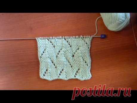 Очень красивый и очень простой узор спицами #мастеркласс #красивыйузор #вязание #knitting #лучшее - YouTube