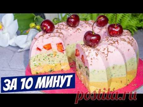 Рецепт Торта Бананово-Творожное ЧУДО! Торт без выпечки Готовь и Наслаждайся МАМА!