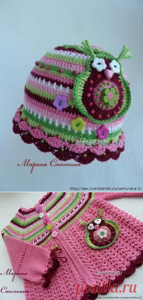 Мир вязания - Схемы, уроки, идеиКомплект для девочки — работа Марины Стоякиной