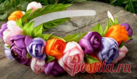 Цветы из атласных лент своими руками, подборка мастер-классов и схем