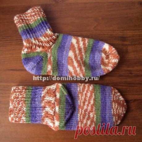 Вязание носков с отдельной пяткой.