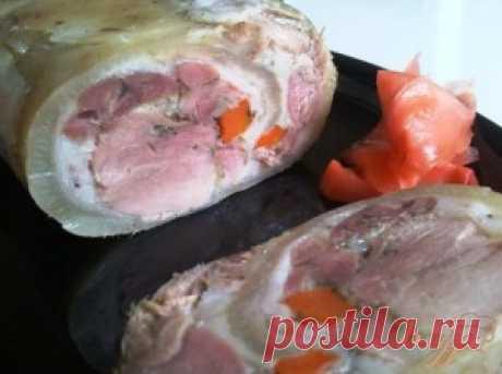 Готовим рулетики из свиной шкурки