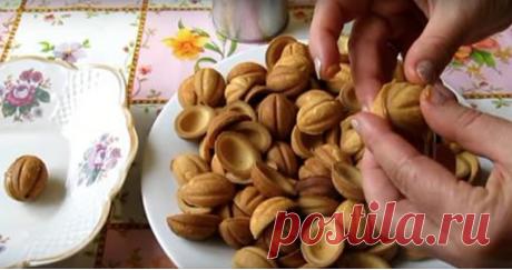 Как приготовить орешки со сгущенкой без орешницы.