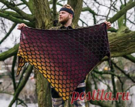 Парень из Амстердама прославился своим вязанием: за его шалями модники выстраиваются в очередь   Вязание-блог   Яндекс Дзен