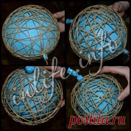 Как сделать люстру-шар из ниток (мастер-класс Anastasia Gor) | Inlife.info