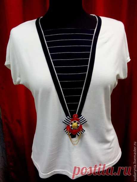 Шьем оригинальную блузку в морском стиле