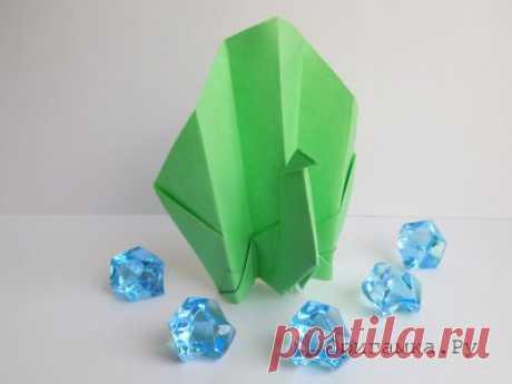 Складывание фигурок техникой модульное оригами с пошаговыми фотографиями.