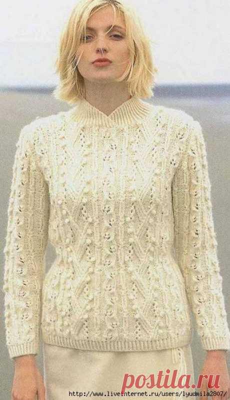 Вязанные свитера, жакеты и жилеты из китайского журнала