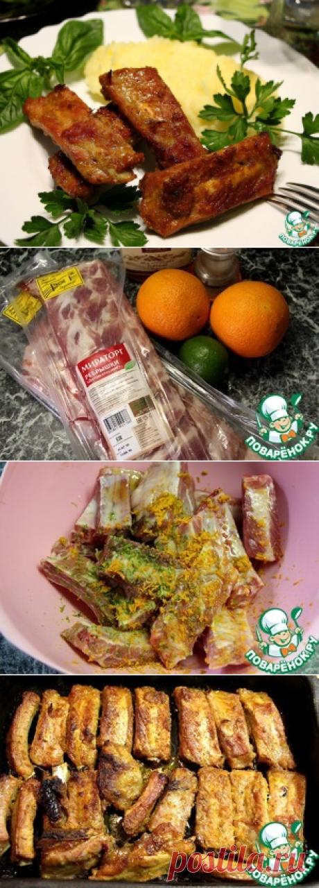 Свиные рёбрышки в медово-апельсиновом маринаде – кулинарный рецепт