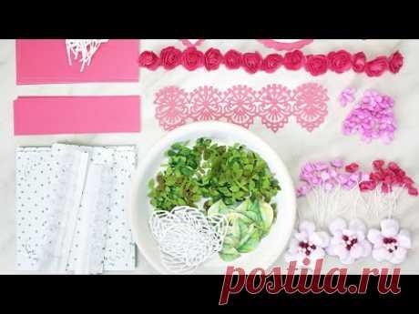 СКРАП-ВЛОГ_ как я делаю цветы и листья для свадебной коробочки/ Скрапбукинг