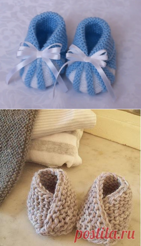 Bootees spokes for newborns - 18 models with the description and schemes