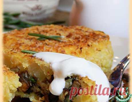 Пшенно-картофельные зразы с грибами – кулинарный рецепт