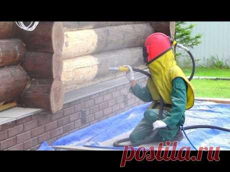 Абразивно - струйный метод шлифовки древесины // FORUMHOUSE - YouTube