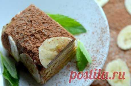 Банановый десерт с песочным печеньем — Sloosh – кулинарные рецепты