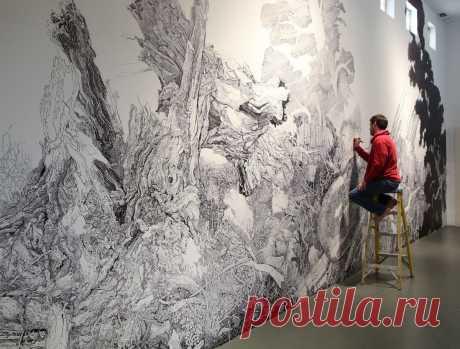 Для тех, кто хочет креатива: роспись интерьера маркерами | legko.com - интерьерные решения | Яндекс Дзен