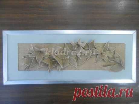 Декоративное панно из джутового материала своими руками florrrrrr