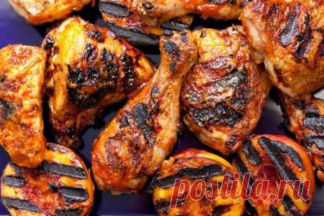 Курица на углях в соусе с бурбоном - пальчики оближешь - На Кухне