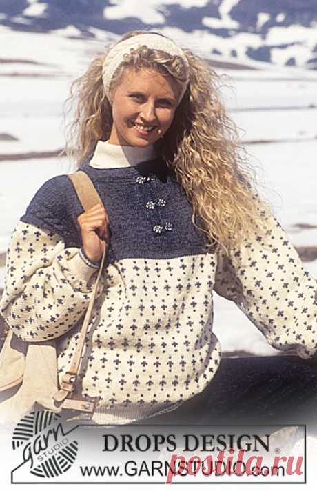 DROPS 32-6 - Free knitting patterns by DROPS Design DROPS Sweater for men in Karisma Superwash with snow flakes and cables