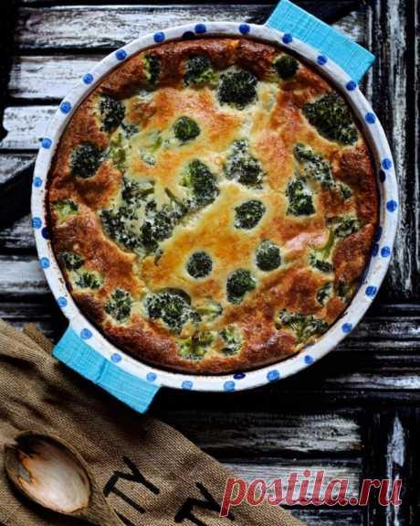 Заливной пирог с сыром и брокколи — Sloosh – кулинарные рецепты