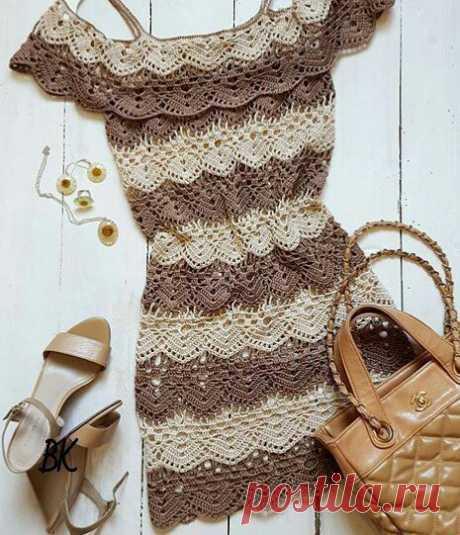 Легкое летнее платье крючком