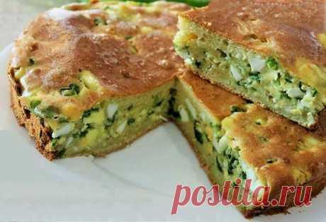 Быстрый незатейливый пирог с яйцом и зелёным луком | Готовим рецепты | Яндекс Дзен