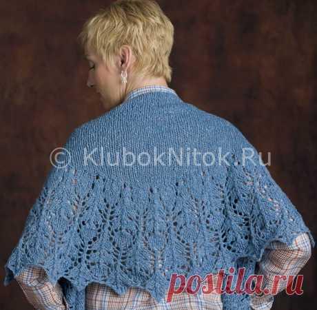 Шаль «Голубой чертополох» | Вязание для женщин | Вязание спицами и крючком. Схемы вязания.