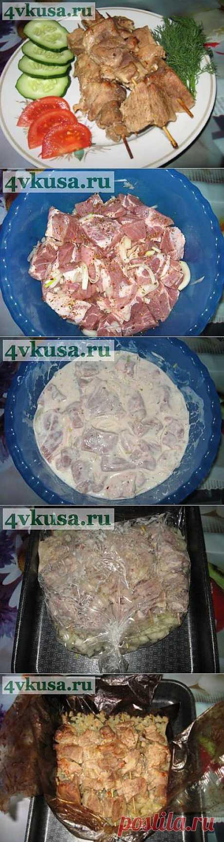 """Мясо в духовке """"а-ля шашлык"""". Фоторецепт.   4vkusa.ru"""