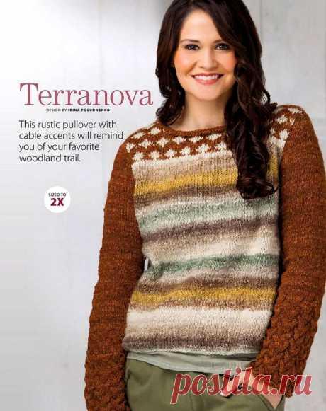 Пуловер. Вязание спицами.