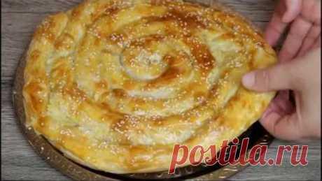 Когда не хочеться раскатать тесто/Секрет Шикарного Пирога из доступных продуктов.