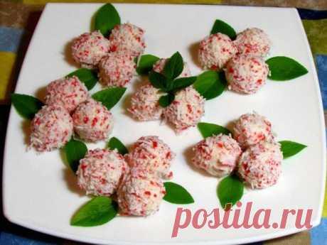 Сырные шарики - салат - закуска с сыром и чесноком
