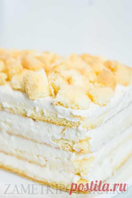 Легкий творожный тортик | Простые кулинарные рецепты с фотографиями