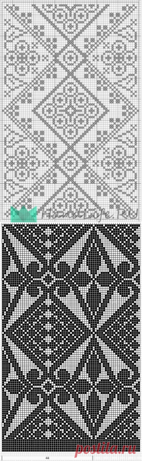 Филейное вязание / Вязание