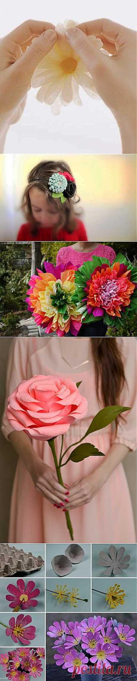 Искусственные цветы из самых разных материалов | Ladies venue
