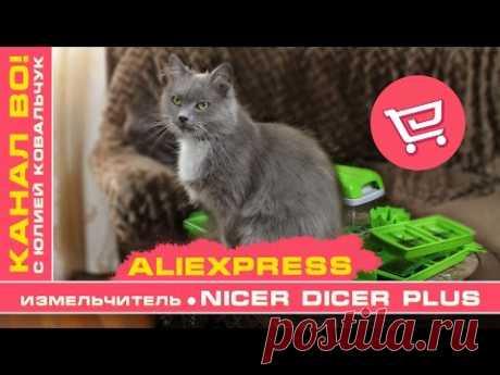 AliExpress: Измельчитель - Овощерезка Nicer Dicer Plus | Кошка Джулия - YouTube