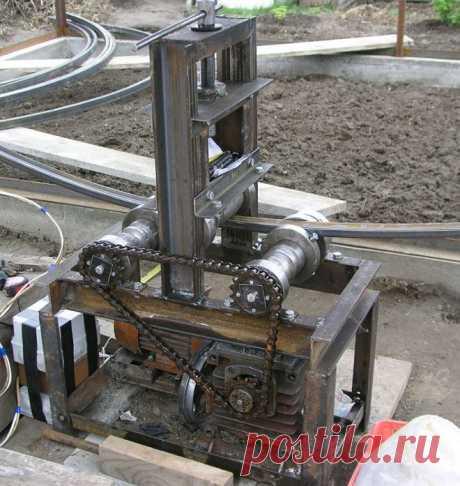 Самодельный трубогиб с электроприводом, сделанный своими руками