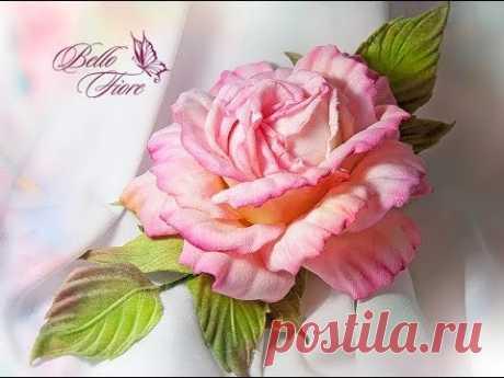 Цветы из шелка. Мастер класс «Роза Excellent Lady из шелка»