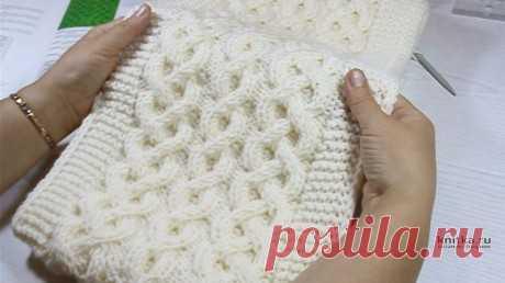 Красивый шарф с аранским узором от Светланы Лосевой, Вязание для женщин
