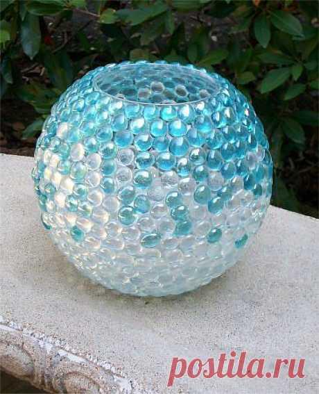 Декорирование стеклянных ваз
