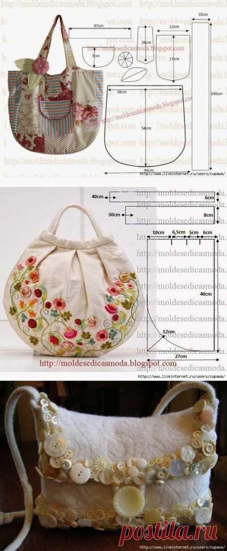 Летние сумки...немного идей...и выкроек.