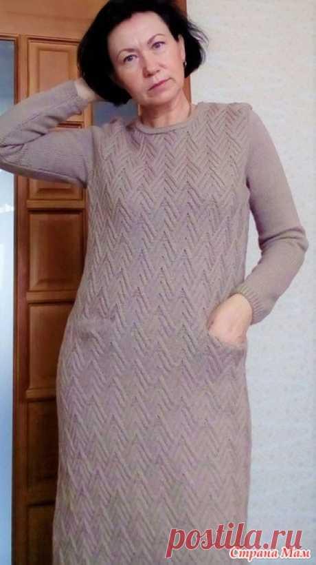 Платье спицами - Вязание - Страна Мам