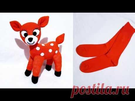 😍СУПЕР ИГРУШКА Я СДЕЛАЛА ИЗ НОСОВ / 👌Как сделать игрушечную газель из носков / 💯Свой дизайн
