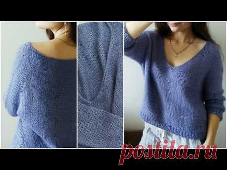 LAVENDER PULLOVER • How knitted?