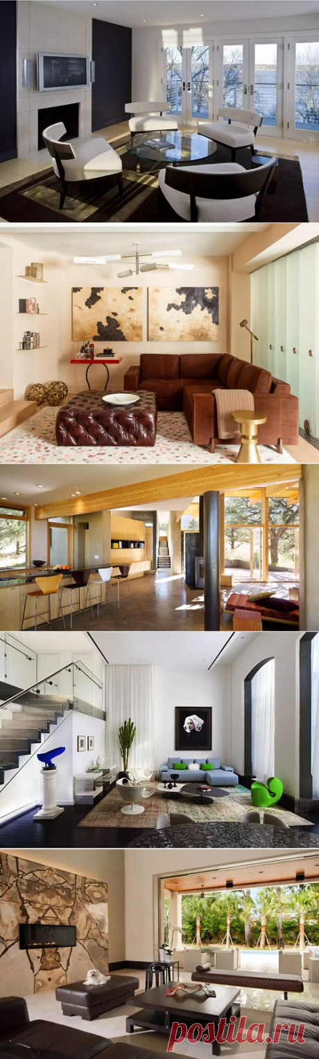 Модный необычный дизайн гостиной - Домашний Очаг