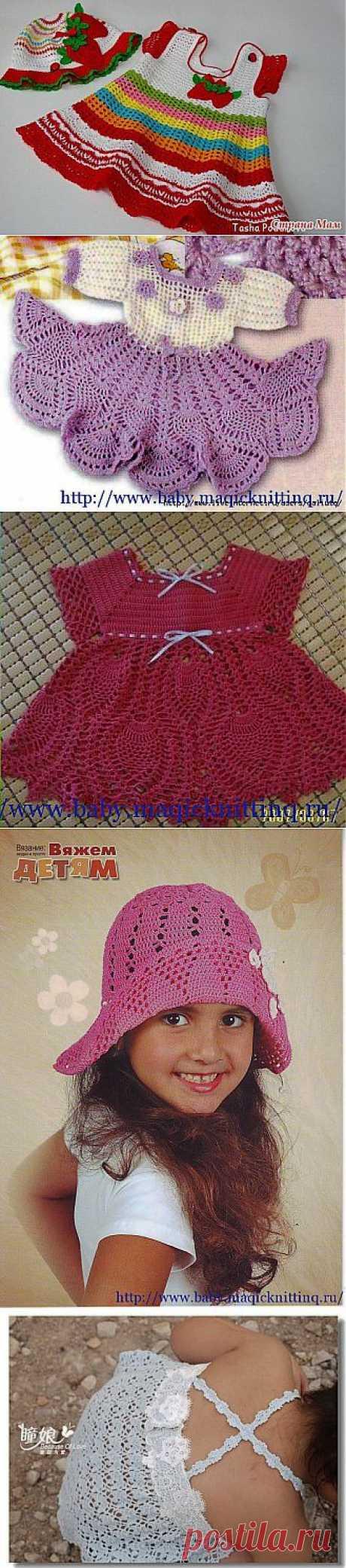 Вязание для девочек. Сарафаны..