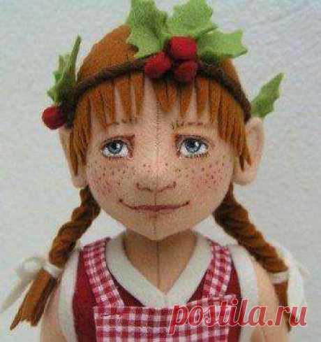 Поделки из фетра - куклы своими руками, пошаговый МК с видео