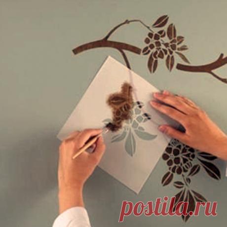 Как сделать трафарет для стен своими руками: фото, пошаговая видео инструкция по изготовлению трафарета