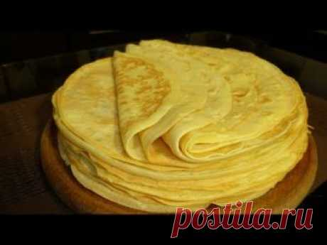 Pancakes on mayonnaise. The simplest and tasty recipe of pancakes