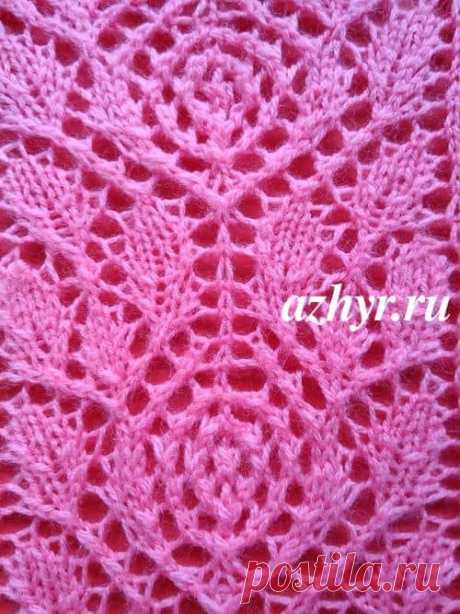 № 157 Узор розы спицами - схема