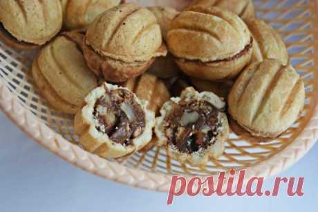 Печенье «Орешки» со сгущенкой по ГОСТу